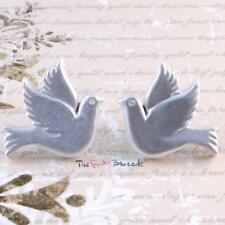 TFB - WHITE DOVES STUD EARRINGS Peace Love Kitsch Gift Retro Happiness Bird Free