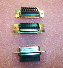 QTY (10) 205206-2 AMP 15 POSITION DSUB SNAP-IN CONNECTORS HDP-20 NOS