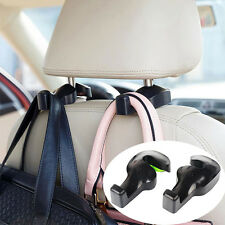2xCar Seat Headrest Hanging Hook Coat Purse Bag Hanger Organizer Holder Black