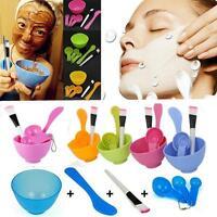 Beauty DIY Facial Mask Bowl  Mixing Brush Tool Makeup Spoon Face Stick Set 4 in1