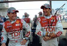 Tom KRISTENSEN & Emanuele PIRRO SIGNED Le Mans AUTOGRAPH 12x8 Photo AFTAL COA