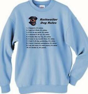 Dog Sweatshirt - Rottweiler Dog Rules
