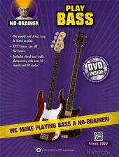 No Brainer Play Bass Guitar TAB Learn to Play Book +DVD
