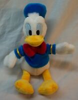 "Walt Disney VERY SOFT DONALD DUCK 9"" Plush Stuffed Animal TOY"