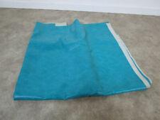 37 sf Vintage Mcm Turquoise Blue Seafoam Vinyl Upholstery Fabric Cushions Retro