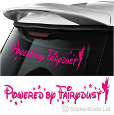 POWERED BY FAIRYDUST ANY COLOUR tinkerbell car sticker