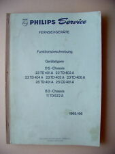 Philips Service Fernsehgeräte Funktionsbeschreibung1965