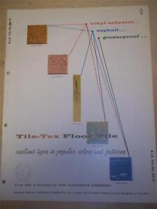 Tile-Tex/Flintkote Co Catalog~Asbestos~Flooring~Skytrail/Korkcolor Tile~1958