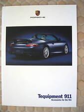 PORSCHE 996 911 CARRERA TEQUIPMENT ACCESSORIES BROCHURE 2001 USA EDITION.