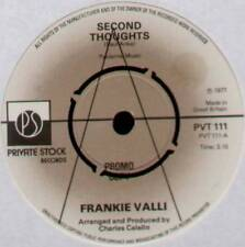 "FRANKIE VALLI ~ SECOND THOUGHTS / SO SHE SAYS ~ 1977 UK ""PROMO"" 7"" SINGLE"