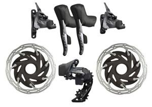 SRAM Force eTap AXS HRD Groupset with Centerline XR Rotors Cassette & Chain