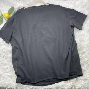Lululemon Back In Action Short Sleeve Size 12 Black