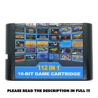 Sega Megadrive 112 in 1 16 Bit Game Cartridge For Megadrive Multi Cart Retro