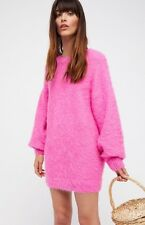 Free People It Girl Pullover Sweater Dress Hot Pink Sold Out Knit Rare Small