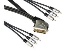 Câble PERITEL VERS 6 RCA MALE CABLE ENTREE SORTIE HAUT DE GAMME LONG 1,5 metre