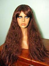 """20"""" dark brown brunette wavy WIG with BANGS - Shake-n-go bag"""