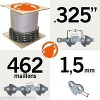 """Chaîne tronçonneuse KERWOOD 25 pieds 0,325"""", 1,5mm"""