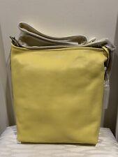 NWT COACH Duffle Legacy Leather Lemon Yellow Crossbody Shoulder Bag Purse
