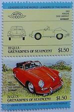 1960 PORSCHE 356B CABRIOLET Car Stamps (Leaders of the World / Auto 100)