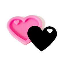 Heart Shape Silicone Molds For DIY Key Ring Epoxy Resin Mold Craft Keychain