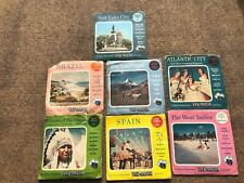 View-Master Disc Packs, Lot of 6; Switzerland, Atlantic City, Spains, & More