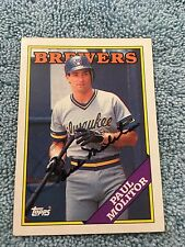 HOF Paul Molitor Autograph Signed Topps 1988 Baseball Card FREE FAST SHIPPING!