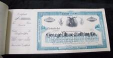 1917 Share Book * George Muse Clothing * 50+ Filled out Pages * Atlanta History!