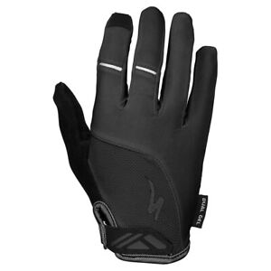 NEW! Specialized BG Dual-Gel Long Finger Women's Gloves Color Black Size Small