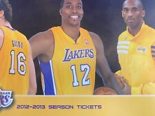 Pick 2012-13 Los Angeles Lakers NBA Official Mint Ticket Stubs - KOBE BRYANT