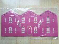 Fensterbilder 2 Stück Haus mit weissen Lampen-- Fenster--Handarbeit aus Dänemark