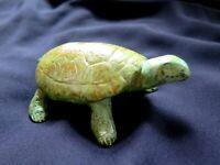 "Animal Sculpture ""Large Turtle"" Reptile  Cast  Bronze  Decorative Collectible"