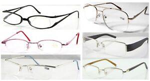 Various Semi-Rimless Reading Glasses/Metal Or Plastic Frame Specs/Mens Or Womens