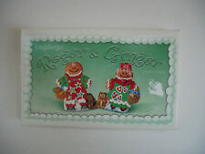 Longaberger 2000 Pottery Roger & Ginger Cookie Molds NEW Made in USA