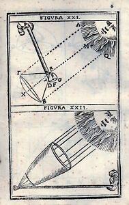 """B. CAVALIERI. """"Lo specchio ustorio"""". Bologna 1650"""