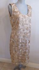 "NEW T & W DESIGNS LARGE CHAMPAGNE SLEEVELESS ""SPECIAL EVENT"" DRESS $150.00"
