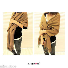 NEW COTTON BROWN THICK SCARF LADIES WINTER SHAWL COTTON  WOMENS WINTER WARM UK