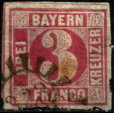 BAYERN, 3 KREUZER, YEAR 1862, MICHEL # 9, USED, (SU004)