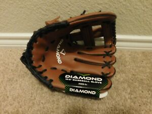 "New Diamond Brown & Black 10.5"" Right handed throw baseball glove"