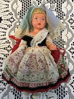 Sweet Antique SCHILDKROT TURTLE MARK CELLULOID GERMAN DOLL- Blond RealisticHair