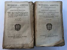 MESSAGES ARRETES PROCLAMATIONS DIRECTOIRE EXECUTIF 2 V BAUDOUIN 1796 1797 C1821