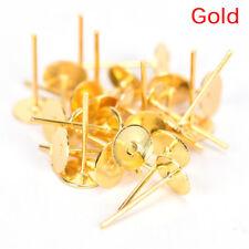 200PCS 6mm flat pad blank base earrings DIY jewelry Making Findings