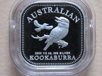 Australia. 2003 1/2oz Silver Kookaburra (50c)..  Cased Proof