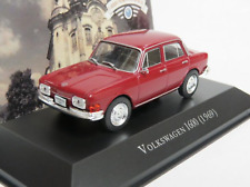 VW Volkswagen 1600 1969 Brazil Rare Diecast Car Scale 1:43 New With Stand