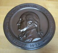 c1931 AUTOMOBILE Mutual Ins Co of AMERICA GEORGE WASHINGTON GORHAM Sign Plaque