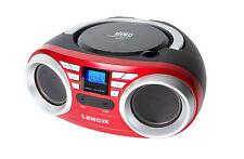 LENOXX CD813 RED / BLACK PORTABLE CD CD-R/CD-RW PLAYER SPEAKER / FM RADIO