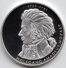 10 Euro Gedenkmünze Wolfgang Amadeus Mozart 2006 Polierte Platte Silber 925/-