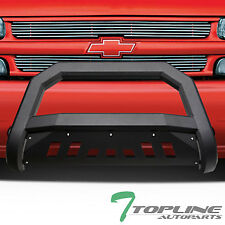 MATTE BLACK AVT BULL BAR BRUSH PUSH BUMPER GUARD 1999-2007 SILVERADO/SIERRA 2500
