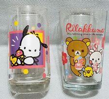 Decorative Vintage 1994 Sanrio Pochacco & 2013 San-X Aloha Rilakkuma Glass Cup
