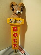 "Shiner Bock Texas Our Brewery Rams Head 3-sided 12"" beer tap handle"
