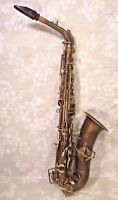 Buescher Low Pitch Saxophone Elkhart IN with Neck Case and Mouthpiece